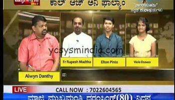 YCS / YSM Mangalore Diocese held a Live Discussion on Daijiworld TV